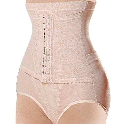 Damen Unterbrust Korsett Bauch Weg Body Shaper Cincher Sport Training Taillenmieder Corsage (nackt, XXXL = US XL, Taille 30-32) (Nackt Body Kostüm)