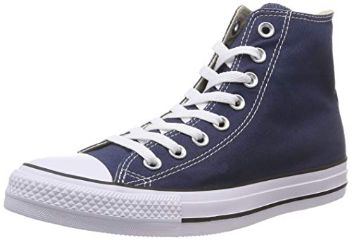 Converse All Star Hi Canvas, Sneakers Unisex Adulto, Blu (Navy/White), 37 EU