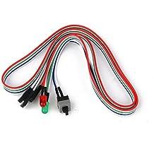 PC ATX Placa Madre Del Ordenador Interruptor De Cable De Encendido / Apagado / Reinicio con Hdd Llevó La Luz