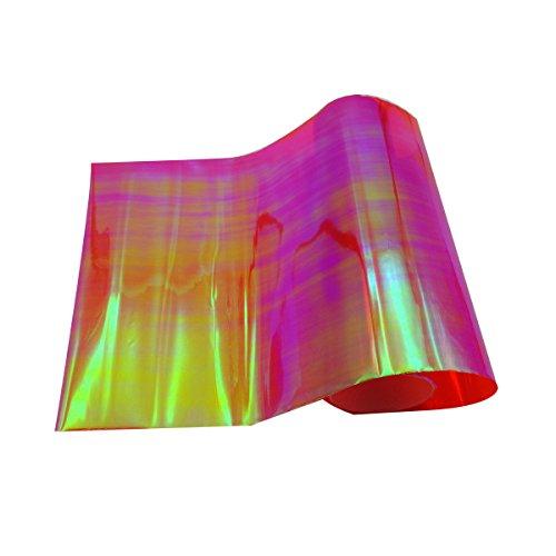 Merssavo 60 x 30cm Wasserdicht Auto Scheinwerfer Folie Tönungsfolie Nebelscheinwerfer Folie Rot