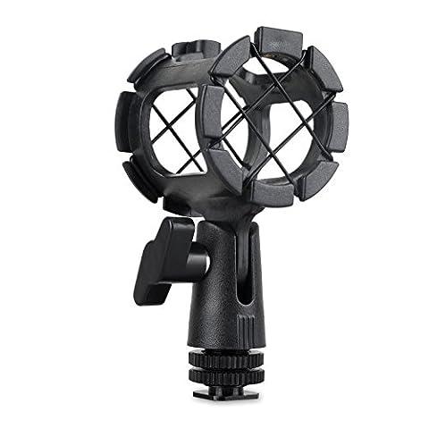SmallRig Microphone Support Universel Adaptateur Suspension Antichoc/Shock Mount/Support Amortisseur avec Cold Shoe - 1859