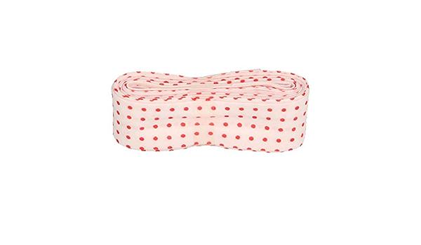 Punkte bunt Pastellgelb Schr/ägband//Einfassband Baumwolle mit Muster gefalzt 3m x 20mm 007