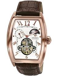 Viceroy Mécanique Collection - Reloj de caballero automático, correa de piel color marrón