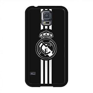 Harte Rückseite Hülle für Samsung Galaxy S5,Primera División Real Madrid Handyhülle,Einzigartig Real Madrid Logo Hülle/Schutzhülle