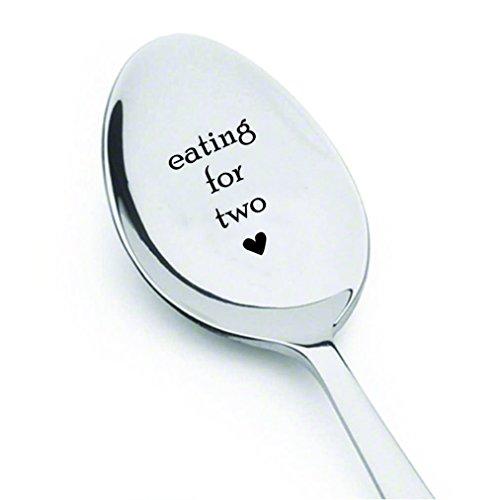 Essen für zwei spoon-unique Schwangerschaft Reveal idea- Schwangerschaft Geschenk Baby Dusche gift-new Ankunft Geschenk