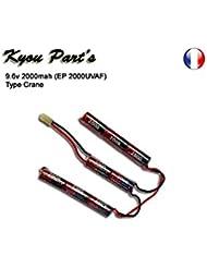 Kyou - Pack batterie 9.6v 2000mah (EP 2000UVAF) - Type Crane