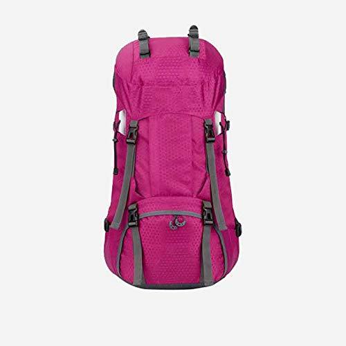 LXJL 60L Leichter Wanderrucksack, multifunktionale Wasserabweisende lässige Camping Trekkingrucksack für Radfahren Reisen Klettern Bergsteiger Outdoor-Sport,F