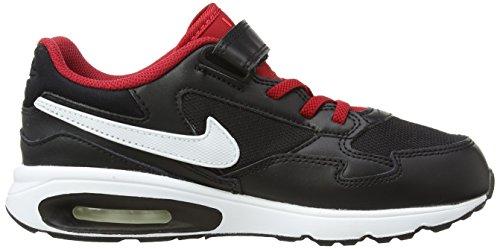 Nike Air Max St (Psv) Jungen Laufschuhe Schwarz / Weiß / Rot (Schwarz / Weiß-Gym Rd-brght Crmsn)
