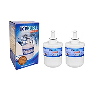 2 Pack Samsung DA2900003F Aqua Pure Plus Replacement Refrigerator Filter by IcePure RWF1100 A