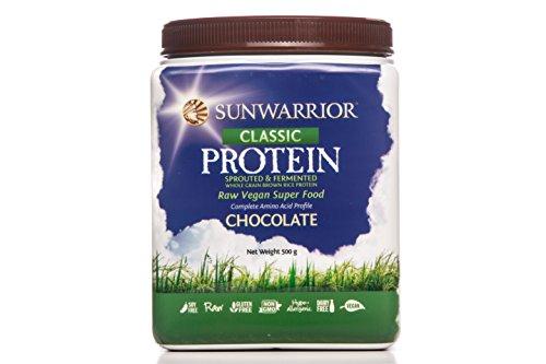 Alle Natürlichen Schokolade (SUNWARRIOR Natürliches Reisprotein Schokolade, 1er Pack (1 x 500 g))