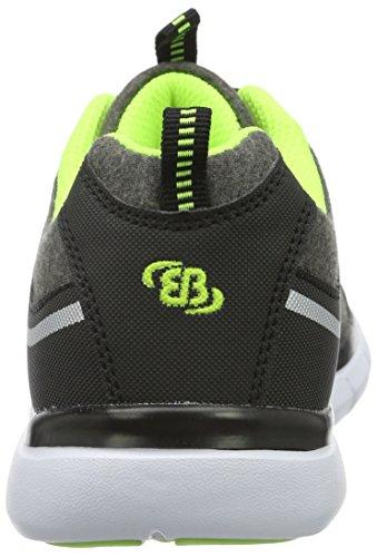 EB-Kids 591218, Baskets Basses Fille Gris (Grau/Schwarz/Lemon)