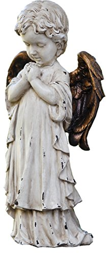 Napco 11260betend Cherub mit Bronze Flügel Garten Statue, 30,5cm (Bronze Engel Statue)