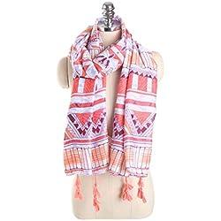 Bufanda De Algodón Moda Mujer Diseñador Envoltura Imprimir Bufandas Otoño Marca De Lujo Geométrica Mantones con Borla Soft