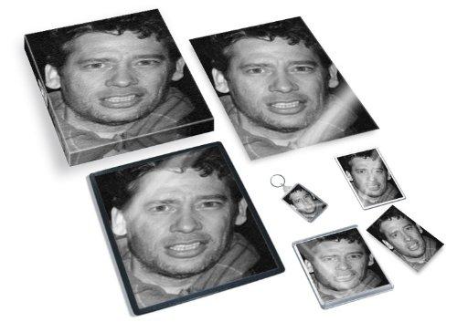 Dexter fletcher - original art gift set #js001 (includes - a4 canvas - a4 print - coaster - fridge magnet - keyring - mouse mat - sketch card) #js001