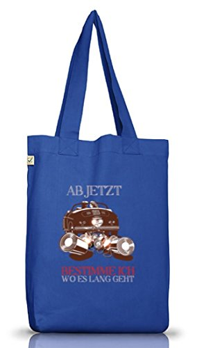 Addio Al Nubilato Jga Wedding Juta Bag Cloth Bag Just Married - Ora Scelgo Blu Brillante