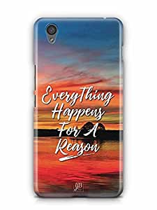 YuBingo Everything Happens For A Reason Designer Mobile Case Back Cover for OnePlus X