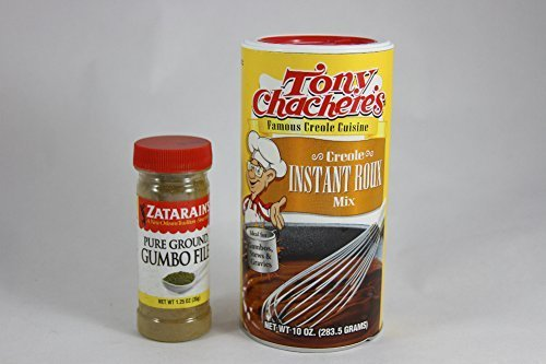 Tony Chachere's Creole Instant Roux Mix and Zatarains Pure Ground Gumbo File Bundle- 2 Items by Tony Chachere's, Zatarain's Zatarains Gumbo Mix