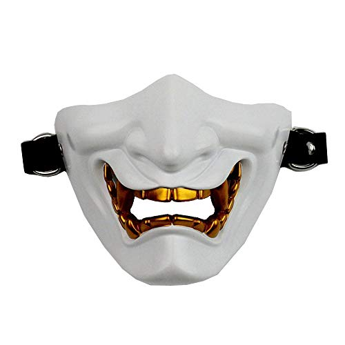 Kostüm Devil Anzug - Maleya Halbe Gesichtsmaske Cosplay Samurai Devil Tactical Halloween Party Festival Augenmaske Kostüm Spielzeug Katzenmaske, Maske Maskenball Maske Maskerade Maske Party Halloween
