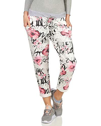 ZARMEXX Damen Joggpants Jogginghose Leggings Hose Fitnesshose Freizeit Streetwear All Over Print Baumwolle