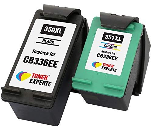 TONER EXPERTE® 2er Set Druckerpatronen kompatibel für HP 350XL 351XL Photosmart C4280 C4340 C4380 C4480 C4485 C4580 C4585 C5280 D5360 Deskjet D4260 D4360 Officejet J6424 J5780 J5785 | hohe Kapazität