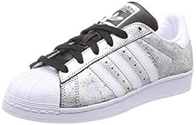 adidas Superstar W, Scarpe da Ginnastica Basse Donna, Bianco (Supplier Colour/Footwear White/Core Black), 36 EU