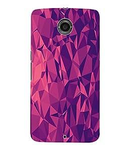 Fuson 3D Printed Pattern Designer Back Case Cover for Motorola Google Nexus 6 - D1066