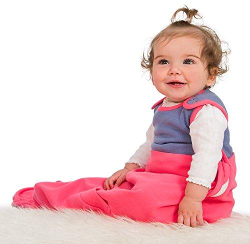 Baby Schlafsack aus Merino Wolle und Bio-Baumwolle, luxuriös weich sleep bag, ganzjahres – 0-2 Jahren