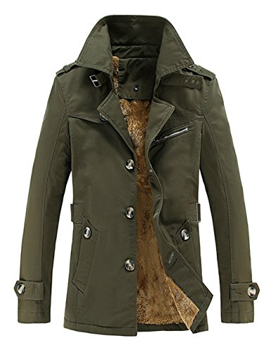 ngen Übergangsjacke Langarm Trenchcoat Winterjacke Wärmemantel Mantel Kurzmantel Einreihig Jack Anzug (2XL,Grün) (Jungen Trenchcoats)