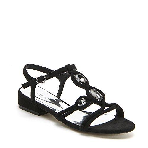 ALESYA by Scarpe&Scarpe - Flache Sandalen mit Steinchen, mit Absätzen 2 cm Schwarz