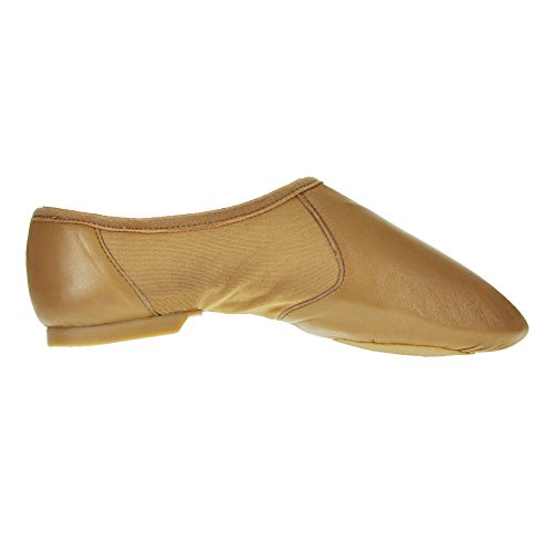 Starlite Hyper Facile Slip On Jazz scarpe in pelle abbronzatura