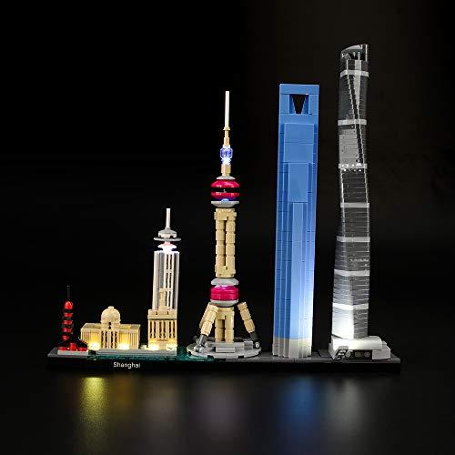 LIGHTAILING Conjunto de Luces (Architecture Shanghái) Modelo de Construcción de Bloques - Kit de luz LED Compatible con Lego 21039 (NO Incluido en el Modelo)