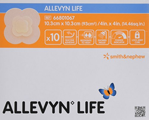 Smith & Nephew Melolin ALLEVYN Adhesive Leben Pack 10 Pflaster 10,3 cm x 10,3 cm -