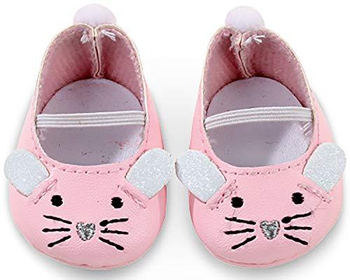 Götz 3402539 Mäuschen Puppenschuhe - Puppenkleidung & Puppenzubehör für Babypuppen Gr. S von 30 - 32 cm - Schuhe Puppe