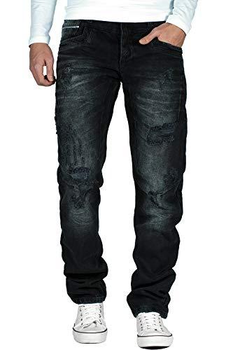 Klassische Schwarze Jeans (Cipo & Baxx Herren Jeans CD104, Schwarz, 38W / 32L)