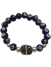 Jaz's Evil Eye-Buri Nazar-Buri Drishti-Blue Bead-Bracelet-Good Luck Protection BeadsStretchable Bracelet