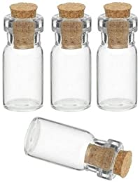 Perlas Perlas caja 10 Stk tarritos de cristal de corcho Botella de cristal 4 cm cristal