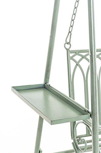 CLP Garten Hollywoodschaukel YLENIA, 2 Sitzer / 3 Sitzer, Landhaus-Stil, Metall (Eisen), bis zu 6 Farben wählbar antik-grün - 6