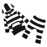 Trendy Design 2016 Baumwolle Infant Babys White & Black Streifen Mit Kapuze T-Shirt + Lange Hosen 2 Teile/Satz Langarm Kleidung Set