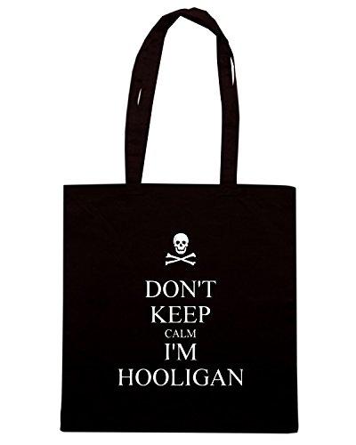 T-Shirtshock - Borsa Shopping TUM0115 DONT KEEP CALM I M HOOLIGAN Nero