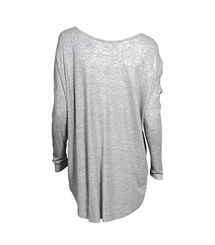 American Vintage Damen Shirt Bety Aus Lyocell Grau Meliert Gris Chine