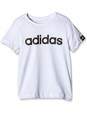 adidas Yb Ess Lin Tee - Camiseta para niño, color blanco / negro, talla 110