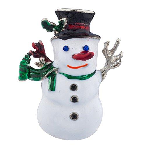LUX Zubehör Silvertone Urlaub Weihnachten Schneemann Brosche