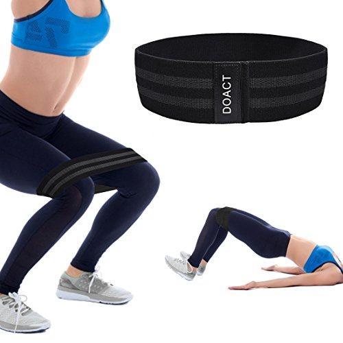 Doact Nylon Fitnessbänder, Gymnastikbänder Mit Unterschiedlichen Zugkräften Ideal für Muskelaufbau Physiotherapie Pilates Yoga Gymnastik und Reha-Sport (Schwergewichtstrainer)