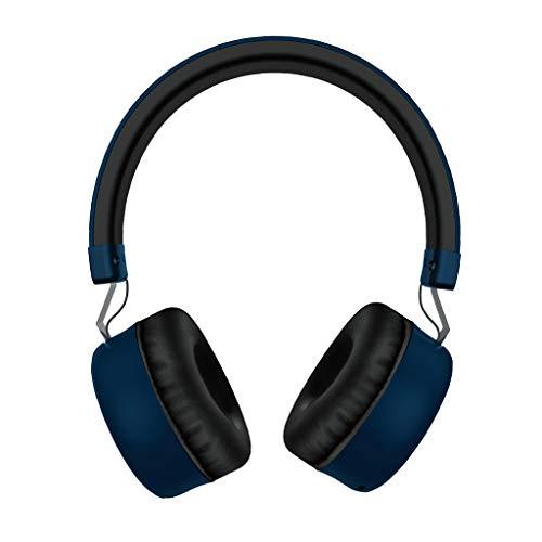 CAOQAO Compatible avec Le Casque BT5.0, Le Casque Micro sans Fil Pliable avec Microphone StéRéO IntéGré, Oreillettes Bluetooth Le Jogging Micro Casque, Casque Gaming Casque Gamer (XSBleu)