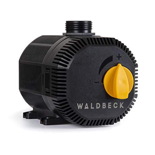 Waldbeck Nemesis T35 Teichpumpe, 35 Watt, Maximale Förderhöhe: 2m, 2300 l/h Durchsatz, Schutzklasse IPX8, Schutzkontaktstecker für den Außengebrauch, Anschlüsse: 3/4\'\' und 1\'\',Netzkabel mit 10m Länge