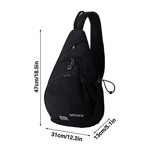 Zoom IMG-2 waterfly zaino monospalla portatile sportivo