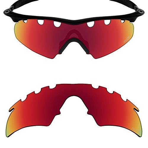 Mryok Ersatzgläser für Oakley M Frame Hybrid Vented - Options, Rot (Xeld Polarized - Johnny Red), Einheitsgröße