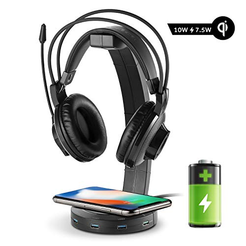 EasyAcc Kopfhörerhalter Gaming Headset Halterung Over Ear Kopfhörer Halter, Schwarz -