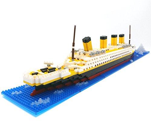 Brigamo Spiele 479 – Titanic Bausteine Schiff, 450 Teile, 60 cm lang, kompatibel mit den gängigen Marken Bausteinen - 6