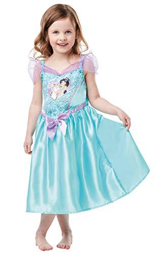 Rubie's 641356TODD Offizielles Disney Prinzessin Pailletten Jasmin Kostüm Kinder Kleinkind Größe Alter 2-3 Jahre, Höhe 98 cm, mehrfarbig (Jasmin Kleinkind Kostüm)